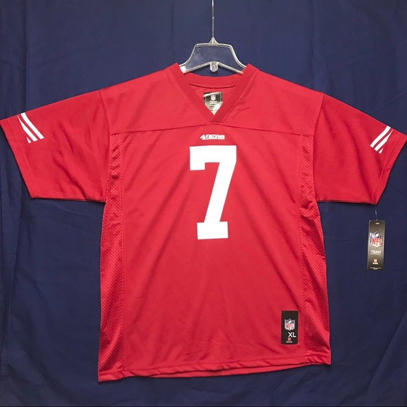 check out d8af8 11c04 NEW NFL Colin Kaepernick #7 Jersey 49ers Youth XL NWT